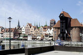 Old Port of Gdansk with the Crane in Poland — Stock Photo