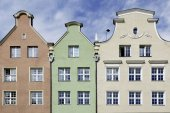 Gabled houses of Gdansk in Poland — Stock Photo