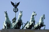 Quadriga at the Brandenburg Gate in Berlin — Stock Photo