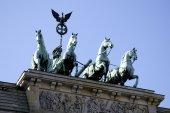 Quadriga at the Brandenburg Gate in Berlin — Stock Photo