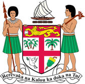 Coat of arms of the Fiji. — Stock Photo