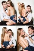 Sexy couple 4 in 1 — Stock Photo