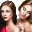 Portrait of two sensuality young beautiful girls — Stock Photo #53049929