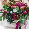 Bridal bouquet with red and burgundy colors — Stock Photo #64673811