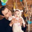 Dad keeps daughter in her arms — Stock Photo #69261769