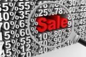 Venda e percentagens — Fotografia Stock