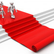 3d people walking on red carpet — Stock Photo #52653023