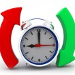 Alarm clock with arrow circle — Stock Photo #52655461