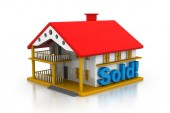 3d house sold — Stock Photo