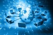 Rede global de informática — Foto Stock