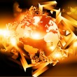 Earth globe on abstract 3d background — Stock Photo #53515723