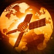 First spaceship at the Earth orbit — Stock Photo #53519909