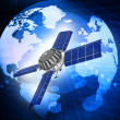 First spaceship at the Earth orbit — Stock Photo #53519913