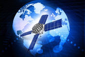 First spaceship at the Earth orbit — Stock Photo
