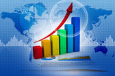 Business graph and charts — Stock Photo