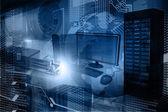 Modern digital technology background — Stock Photo