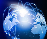 Internet Concept of global networking — Stock Photo