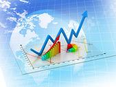 Wykres biznes — Zdjęcie stockowe