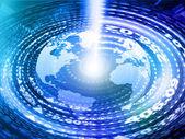 Tierra digital con fibra óptica — Foto de Stock