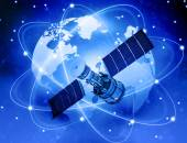 Satellites connection and  earth — Stock Photo