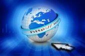 Internet URL with globe — Stock Photo