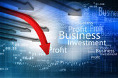 Business arrow graph — Stock Photo