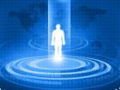 Corpo umano analizzato con nuova tecnologia — Foto Stock
