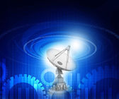 Satellite dish  antenna — Stock Photo