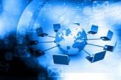 Computer network concept — Stock Photo