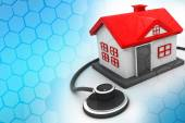 House with stethoscope — Stock Photo