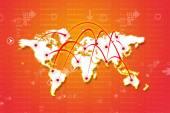 глобальная деловая сеть — Стоковое фото