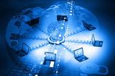 Dator nätverk och internet kommunikation koncept — Stockfoto
