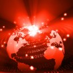 Earth globe  with digital fibers — Stock Photo #64504073