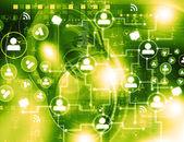 Social Media Network concept — Stock Photo