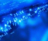 Display of Stock market graph — Stock Photo