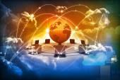 Cloud computing concept — 图库照片