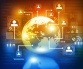 グローバル ・ コミュニケーション技術 — ストック写真