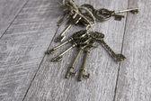 Oude sleutels set — Stockfoto