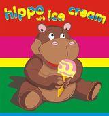 Hippo wich ise cream — Stockvector