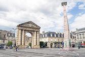 BORDEAUX, FRANCE - JULY 31: Aquitaine door and obelisk designed  — Stock Photo