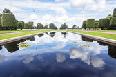 Pond in the American Cemetery at Colleville-Sur-Mer, Normandie,  — Stock Photo