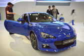 Blue Subaru BRZ — Stock Photo