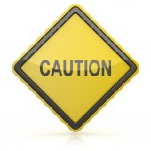 Road Sign - Caution — Stock Photo