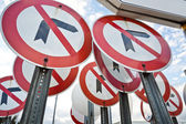 No Left Right Turn Sign — Stock Photo