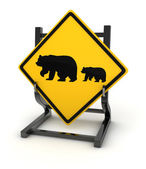 Road sign - Bear — Stock Photo