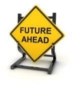 Road sign - future ahead — Stock Photo