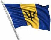 Bandiera di barbados — Foto Stock