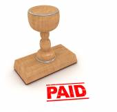 Rubber stamp - paid — Stock Photo