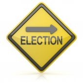 Road Sign - Election Ahead — Stock Photo