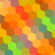 Abstract Background in Rainbow Colors - Pattern Element for Design Illustration - Hexagon Mosaic - Beautiful Color Art - Digital Backdrop Yellow Orange Red Green Blue - Colorful Honeycomb - 70s — Stock Photo #62252459
